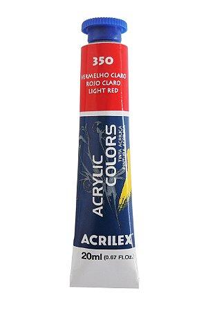 Tinta Acrilica Acrilex 20ml 350 Vermelho Claro