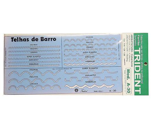 Gabarito Arquitetura Telhas De Barro A-30
