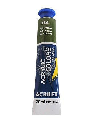 Tinta Acrilica Acrilex 20ml 334 - Verde Oliva