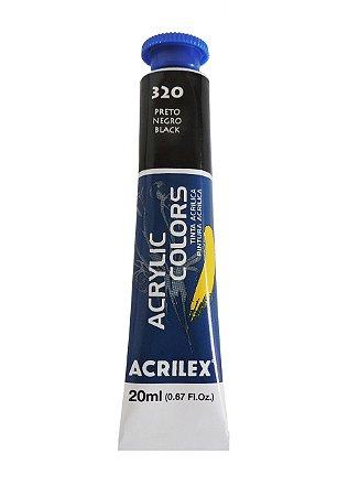 Tinta Acrilica Acrilex 20ml 320 - Preto