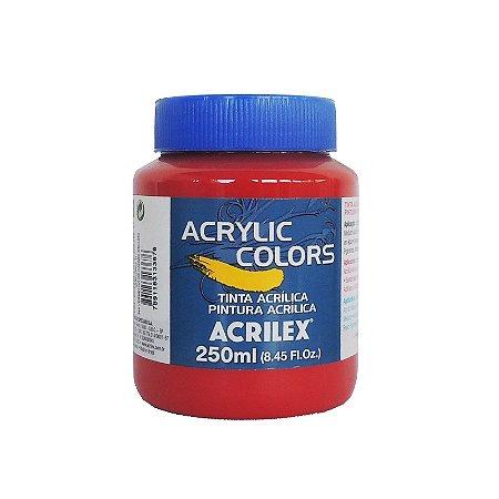Tinta Acrilica Acrilex 250ml Grupo 2 344 - Vermelho de Cadmio Escuro