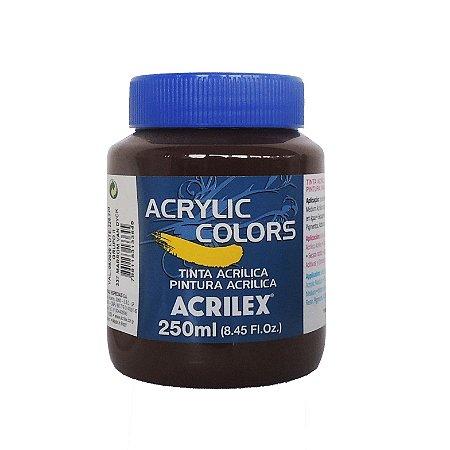 Tinta Acrilica Acrilex 250ml Grupo 2 337 - Marrom Van Dyck