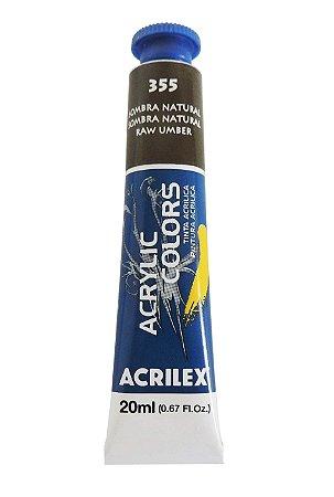 Tinta Acrilica Acrilex 20ml 355 - Sombra Natural