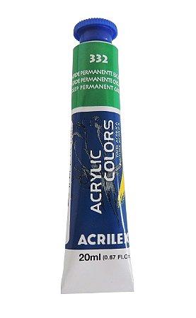 Tinta Acrilica Acrilex 20ml 332 - Verde Permanente Escuro