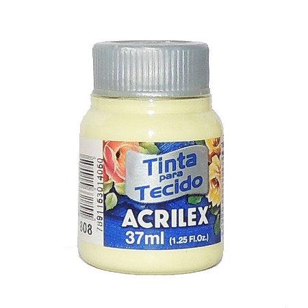 Tinta para Tecido Acrilex 37ml 808 Amarelo Bebe