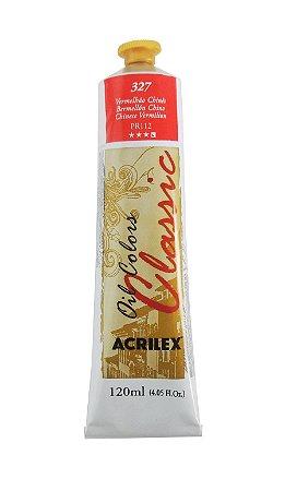 Tinta Oleo Acrilex 120 ml 327 - Vermelho Chinês