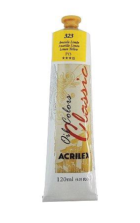 Tinta Oleo Acrilex 120 ml - 323 Amarelo Limão