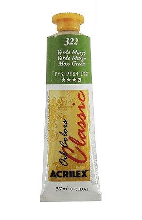 Tinta Oleo Acrilex 37ml 322 - Verde Musgo
