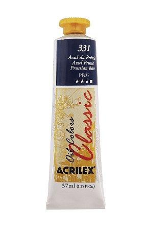 Tinta Oleo Acrilex 37ml 331 - Azul Prussia
