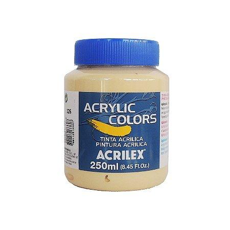 Tinta Acrilica Acrilex 250ml Grupo 1-326 Amarelo Pele
