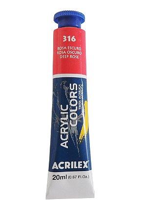 Tinta Acrilica Acrilex 20ml 316 - Rosa Escuro