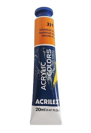 Tinta Acrilica Acrilex 20ml 339 - Amarelo Indiano