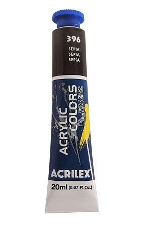 Tinta Acrilica Acrilex 20ml 396 - Sepia