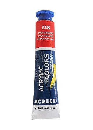 Tinta Acrilica Acrilex 20ml 328 - Laca Gerânio