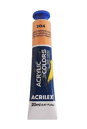 Tinta Acrilica Acrilex 20ml 304 - Amarelo Napoles Carne