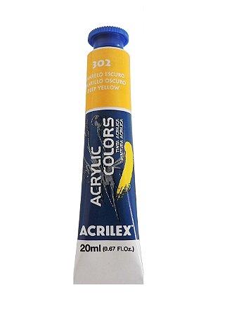 Tinta Acrilica Acrilex 20ml 302 Amarelo Escuro