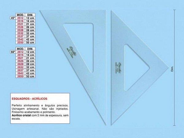 Esquadro Trident 60º 28cm - sem Escala