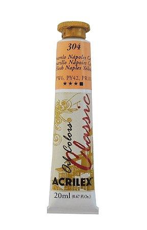 Tinta Oleo Acrilex 20ML 304 - Amarelo Napoles Carne