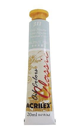 Tinta Oleo Acrilex 20ML 311 - Gris Neutro