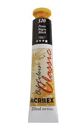 Tinta Oleo Acrilex 20ML 320 - Preto