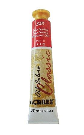 Tinta Oleo Acrilex 20ML 328 - Laca Gerânio