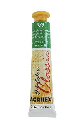 Tinta Oleo Acrilex 20ML 333 - Verde Paul Veroneze