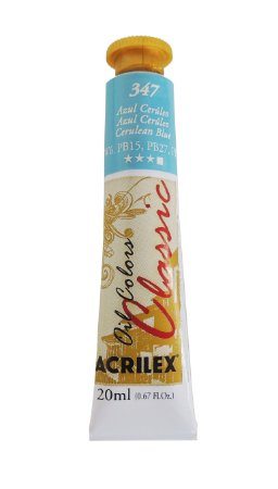 Tinta Oleo Acrilex 20ML 347 - Azul Cerúleo