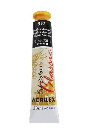 Tinta Oleo Acrilex 20ML 351-Sombra Azulada