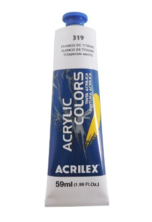 Tinta Acrilica Acrilex 59ml 319-Branco Titâmeo