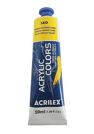 Tinta Acrilica Acrilex 59ml 340 - Amarelo de Cadmio Claro