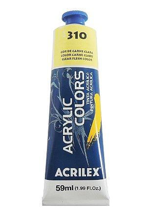 Tinta Acrilica Acrilex 59ml 310-Cor Carne Clara