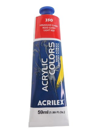 Tinta Acrilica Acrilex 59ml 350-Vermelho Claro