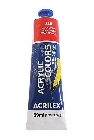 Tinta Acrilica Acrilex 59ml 328 - Laca Gerânio