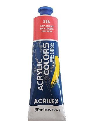 Tinta Acrilica Acrilex 59ml 316 - Rosa Escuro