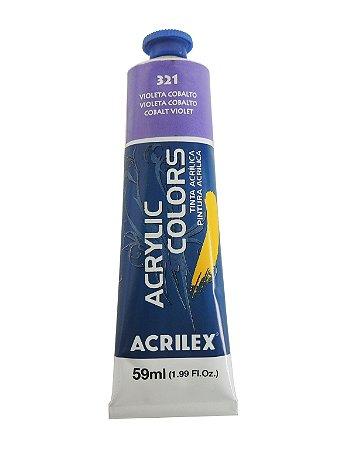 Tinta Acrilica Acrilex 59ml 321 - Violeta Cobalto