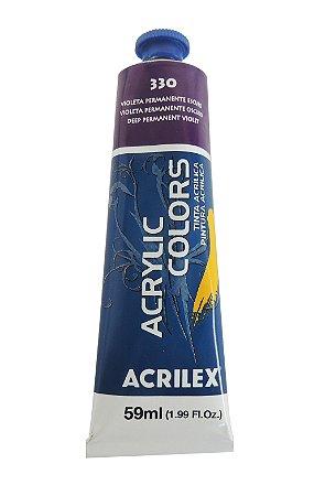Tinta Acrilica Acrilex 59ml 330 - Violeta Permanente Escuro