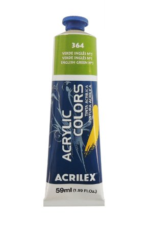 Tinta Acrilica Acrilex 59ml 364 - Verde Inglês nº5