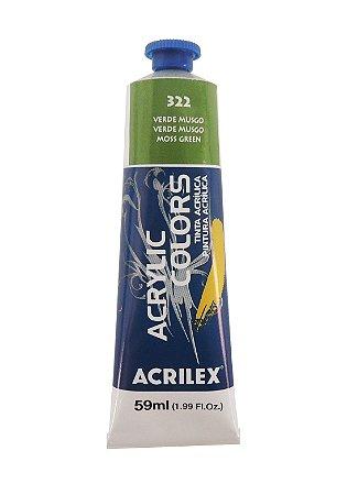 Tinta Acrilica Acrilex 59ml 322 - Verde Musgo