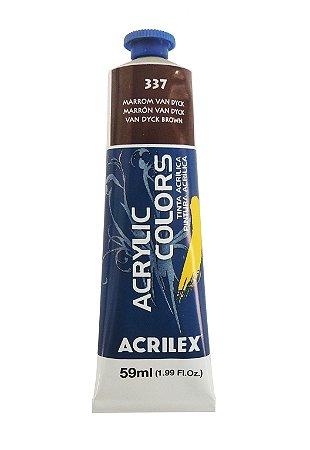 Tinta Acrilica Acrilex 59ml 337 - Marrom Van Dyck