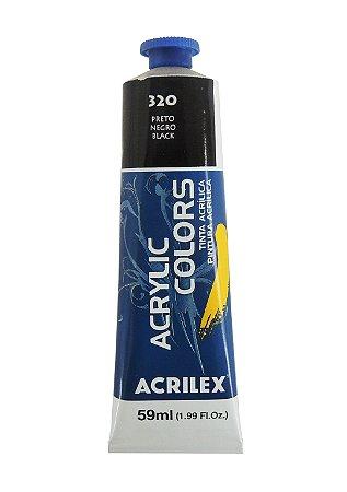 Tinta Acrilica Acrilex 59ml 320 - Preto