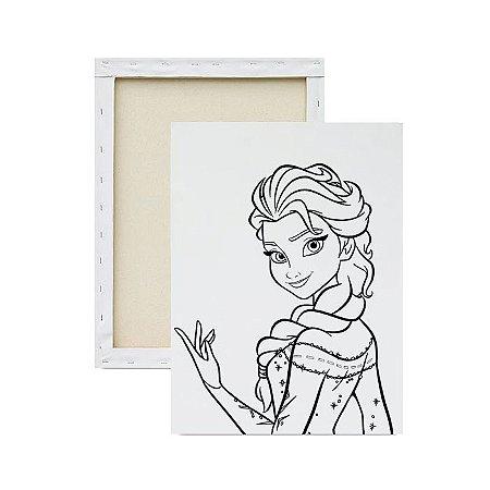 Tela para pintura infantil - Elsa