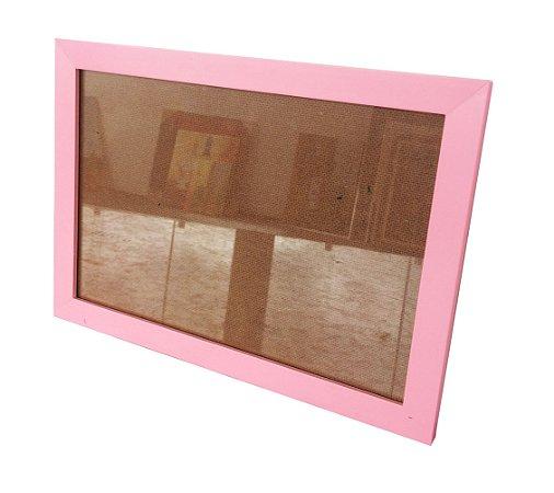 Moldura para Certificado Rosa com Vidro