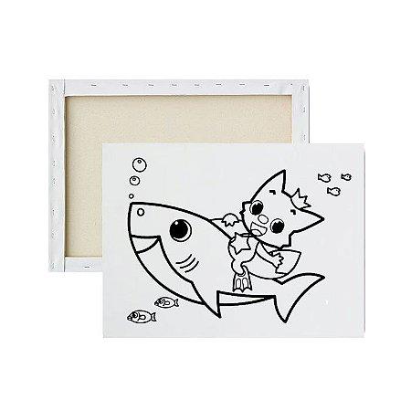 Tela para Pintura Infantil - Baby Shark e Pinkfong