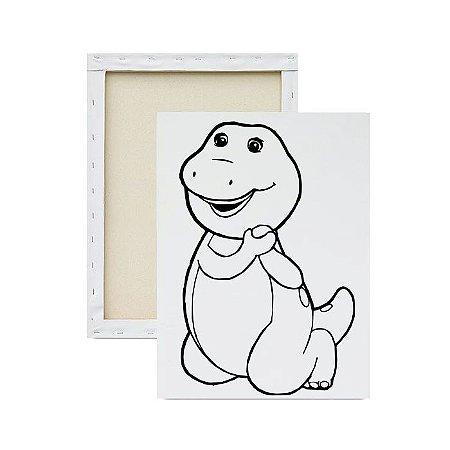 Tela para Pintura Infantil - Barney