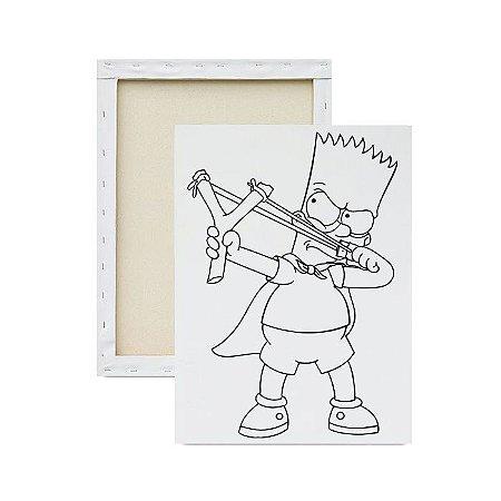 Tela para Pintura Infantil - Bart e o Estilingue