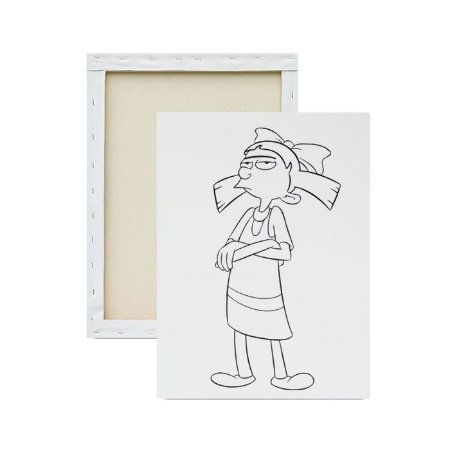 Tela para Pintura Infantil - Helga Brava