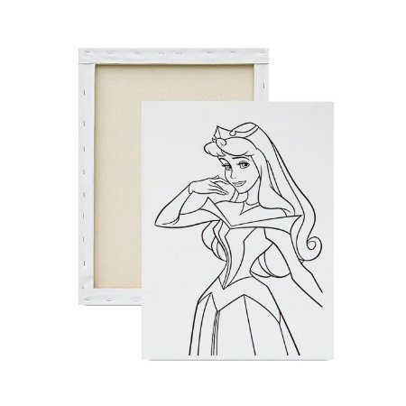 Tela para Pintura Infantil - Linda Princesa Aurora
