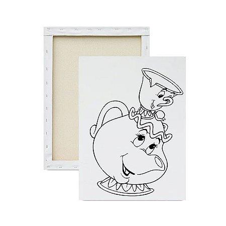 Tela para Pintura Infantil - Madame Samovar e Chip