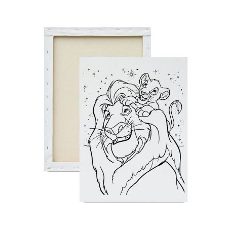 Tela para Pintura Infantil - Mufasa e Simba
