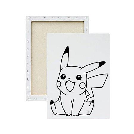 Tela para Pintura Infantil - Pikachu